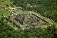 Flying Around Angkor Wat in A Microlight
