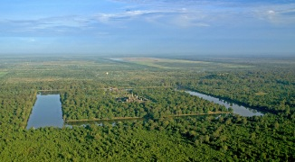 Angkor Wat in a Microlight
